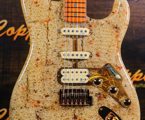 Someone Built a Guitar from Ramen Noodles