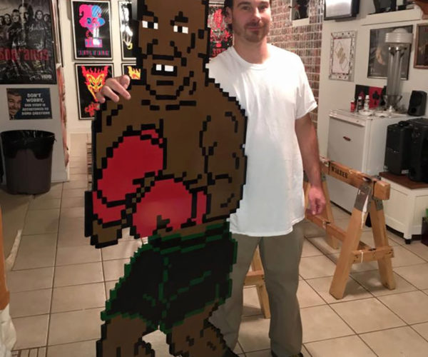 "Guy Makes Life-size Mike Tyson from ""Punch-Out!!"""