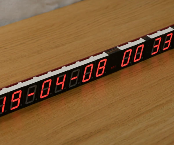 This LED Wall Clock Is Accurate to 1/100th of a Second