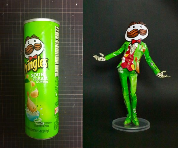 Pringles Man Made from Pringles Can