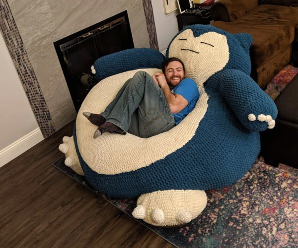This Jumbo Snorlax Lounger Will Lull You to Sleep… and Steal Your Wallet
