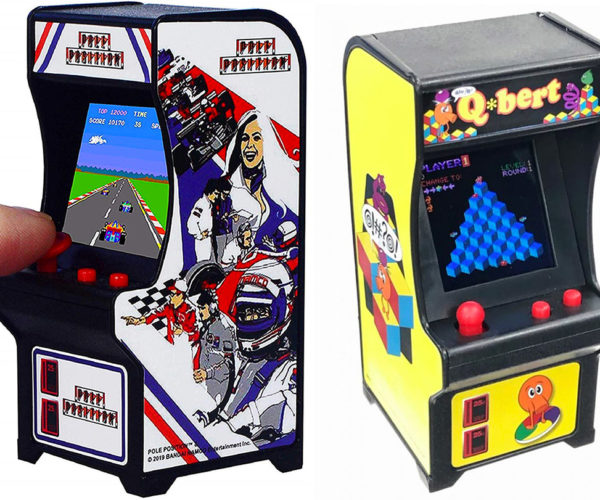 Tiny Arcade Q*Bert and Pole Position Games Don't Need Tiny Quarters