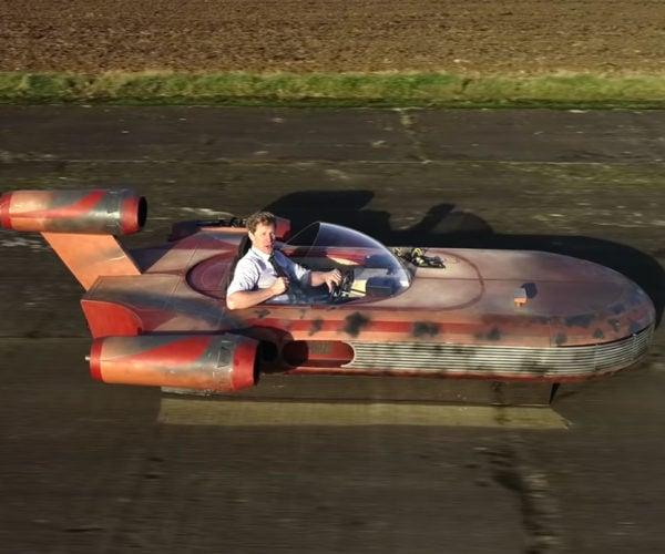 Colin Furze Made a Jet-Powered Star Wars Landspeeder