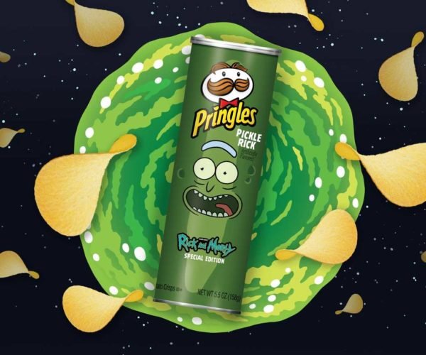 Pringles Making Rick and Morty Pickle Rick Flavor Chips