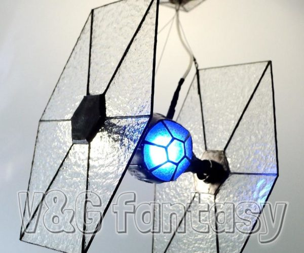 Stained Glass TIE Fighter Lamp: The Empire Lights Up