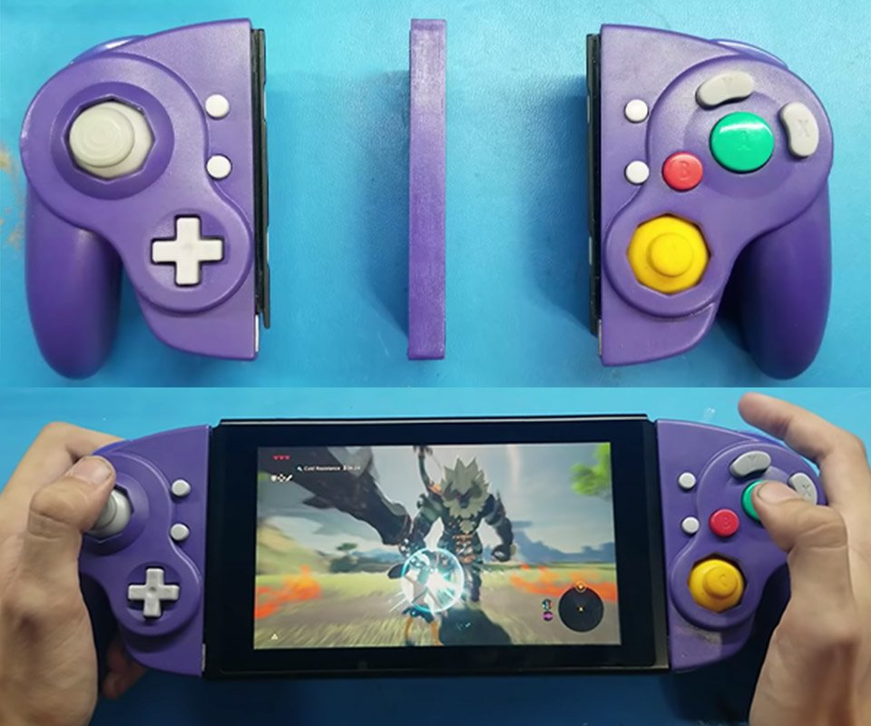 Image result for Modder converts WaveBird GameCube controller into Switch JoyCons
