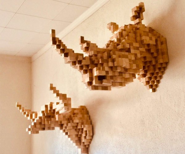 Pixels + Taxidermy = Pixidermy