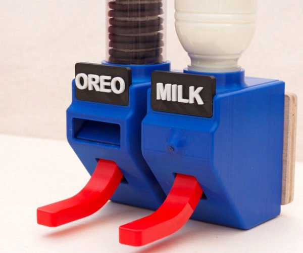 Engineer Builds Hands-Free Oreo and Milk Dispensers