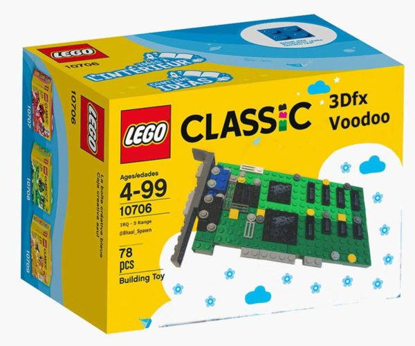 LEGO 3Dfx Voodoo 3D Card Brings Back 1990s Memories