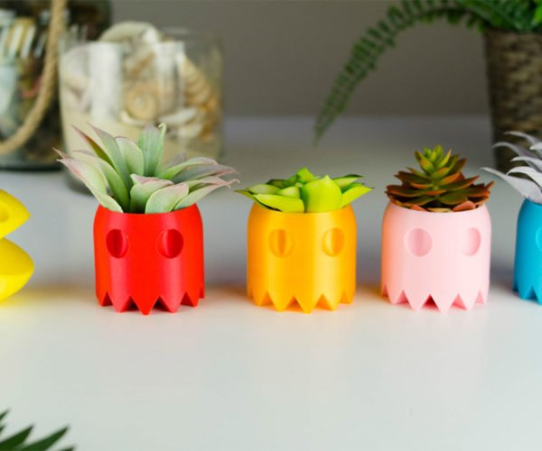 Pac-Man Succulent Planters Trade Quarters for Cacti