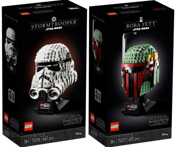 LEGO Stormtrooper and Boba Fett Busts Bust Out