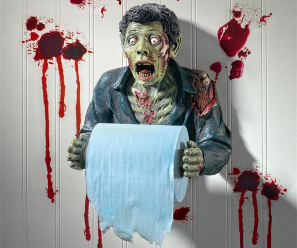 Zombie Toilet Paper Holder Wants Butts Not Brains