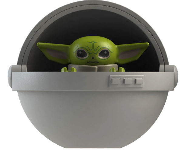 Knock-off Baby Yoda Minifigure Even Has His Space Bassinet