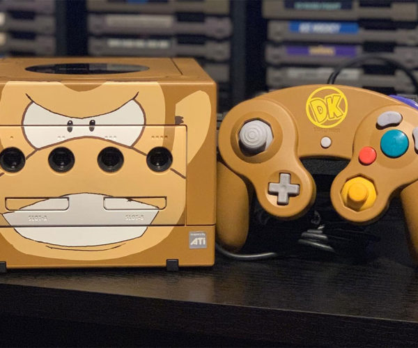 Custom-painted GameCubes Feature Classic Nintendo Characters