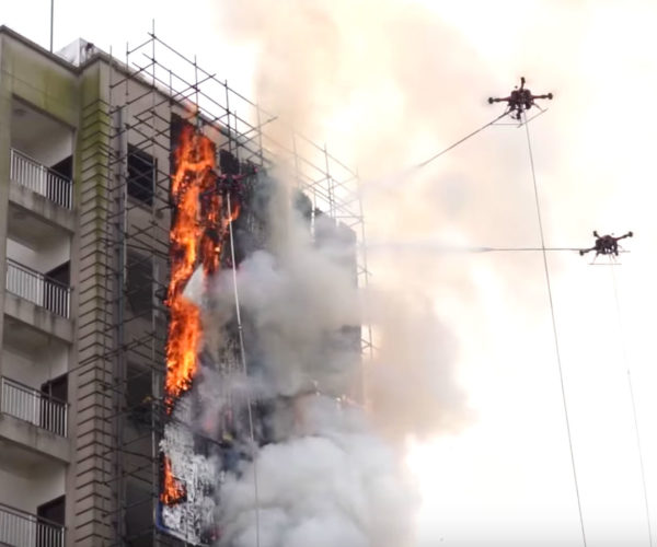 Using Drones to Fight Hi-Rise Fires