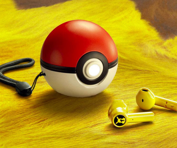Razer Pikachu Wireless Earbuds Charge in a Pokéball