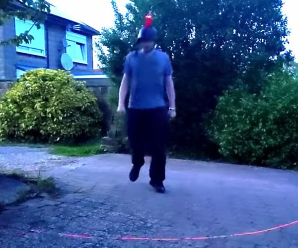 Social Distancing Laser Hat Uses Lasers to Stake Your Territory
