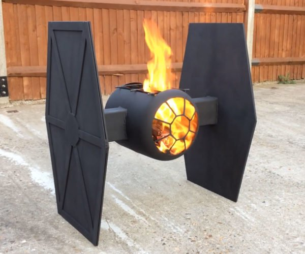 This TIE Fighter Fire Pit Has an Imperial Flame Job