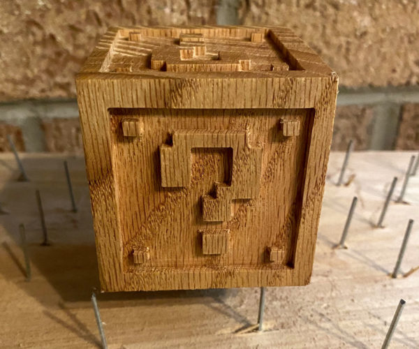 Wooden Mario Question Block 1ups Your Desk