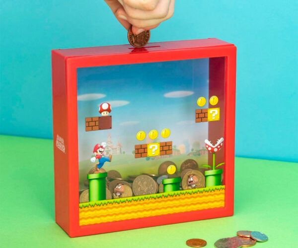 Super Mario Coin Bank Deposits Into the Mushroom Kingdom