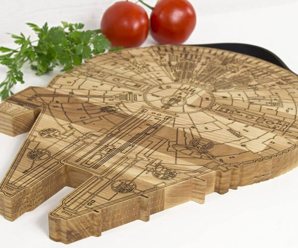 Millennium Falcon Cutting Board: Punch (and Chop) It Chewie!