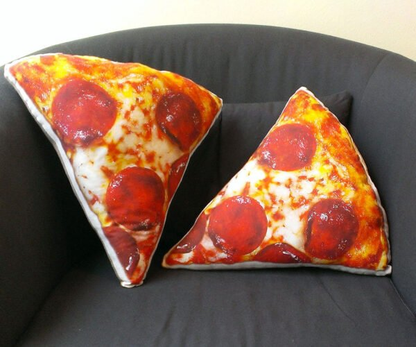 These Pepperoni Pizza Pillows Won't Leave Cheese on Your Couch