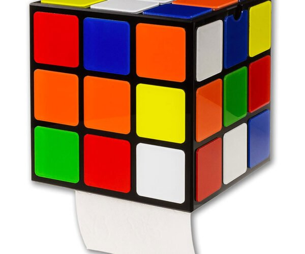 You'll Never Solve This Rubik's Cube Toilet Paper Dispenser