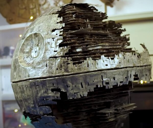 Someone Built the Death Star II from Cardboard: That's No Amazon Box!