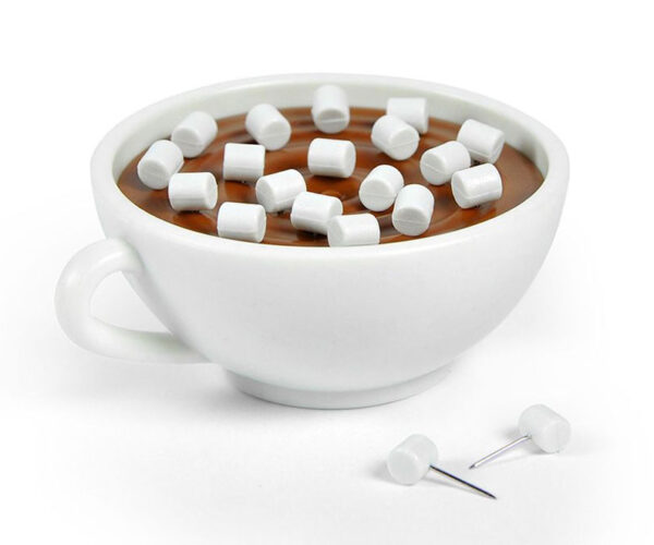 Don't Try Drinking This Fake Hot Chocolate with Marshmallow Push Pins