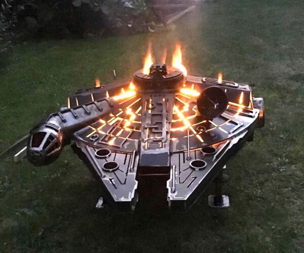 This Millennium Falcon Fire Pit Has Got Fire in Her Belly