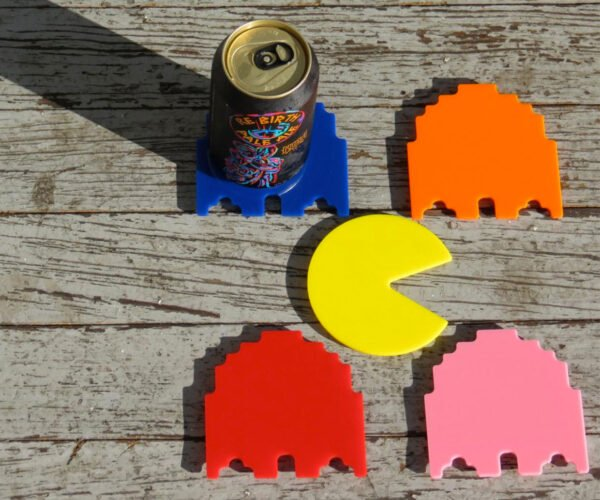 Pac-Man Inspired Coasters: Drinka Drinka Drinka