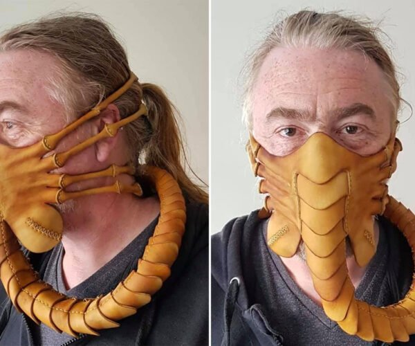 This Alien Facehugger Face Mask Keeps Viruses and Xenomorph Eggs In