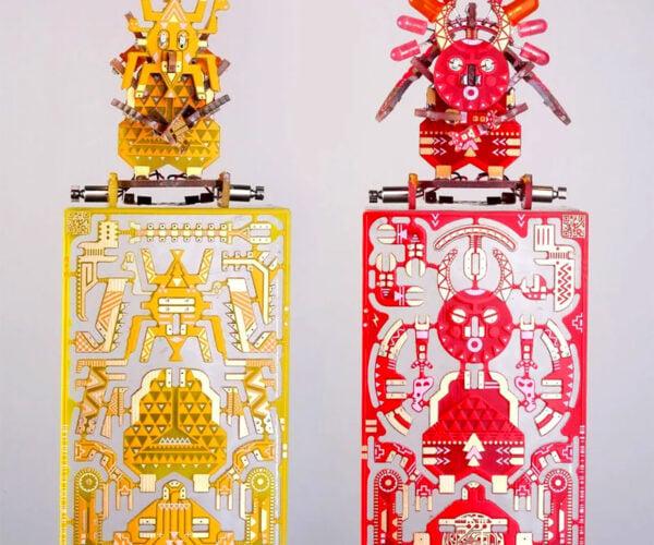 Printed Circuit Board Kits Turn into Magic Voodoo Robots