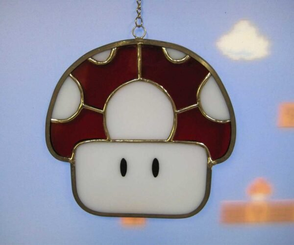 Super Mario Stained Glass Ornaments 1up Any Space