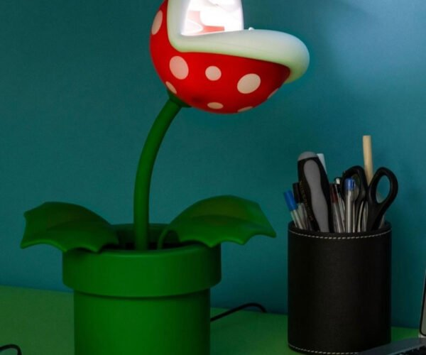 Super Mario Piranha Plant Light Flexes Its Stalk