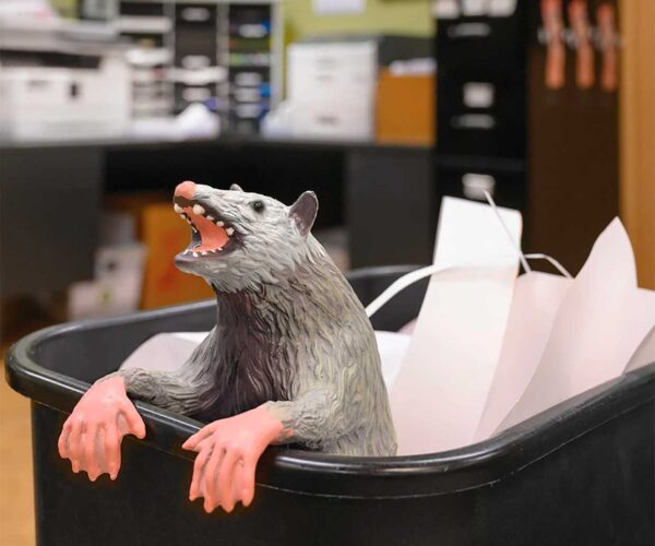 The Office Possum Will Keep Unwanted People out of Your Cubicle