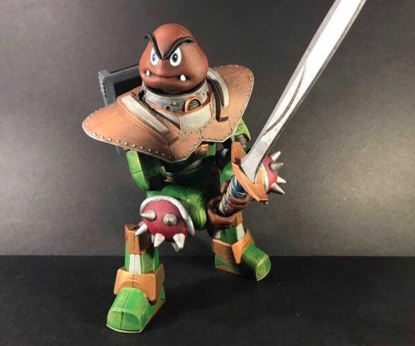 Battle Mech Goomba Is Ready to Defend the Mushroom Kingdom