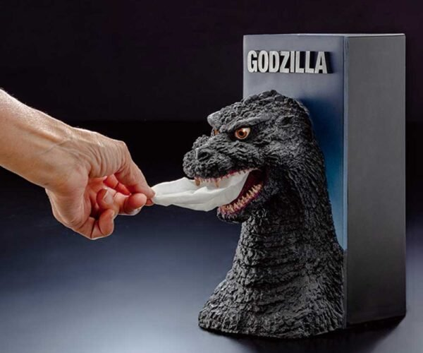Godzilla Tissue Dispenser Stomps out Stuffy Noses