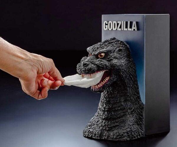 Godzilla Tissue Dispenser Stomps out Stuffy Noses