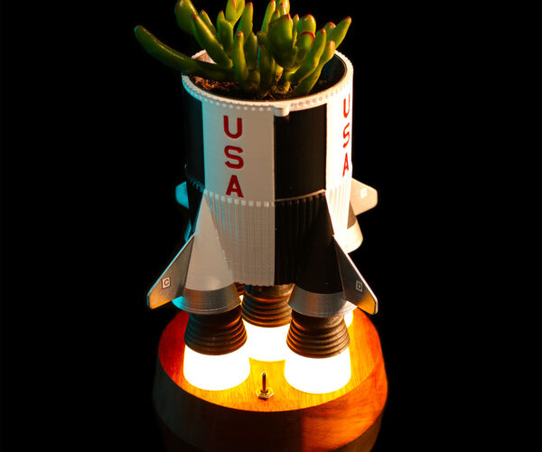 This Saturn V Rocket Planter Is Ready to Lift Off