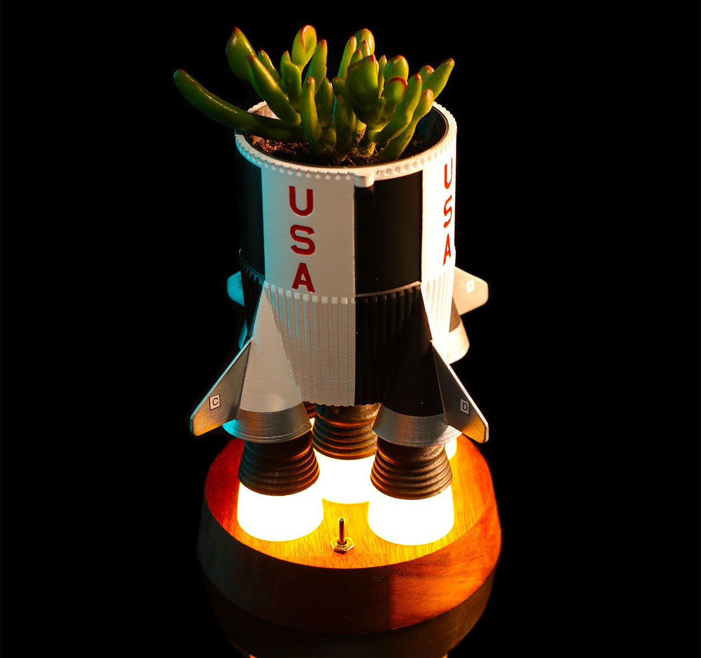 Saturn Succulent Planter