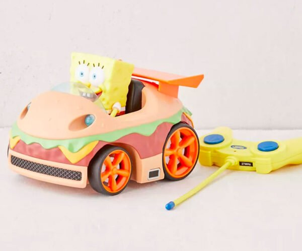 SpongeBob SquarePants Krabby Patty RC Car Doesn't Drive Underwater