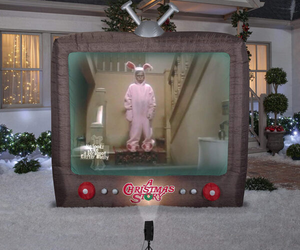 "An 8-Foot Inflatable TV Yard Decoration That Plays Scenes from ""A Christmas Story"""