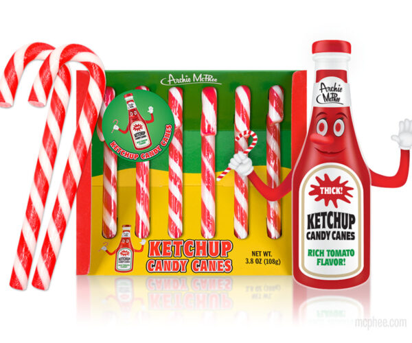 Ketchup Flavored Candy Canes Are the Ultimate Christmas Condiment