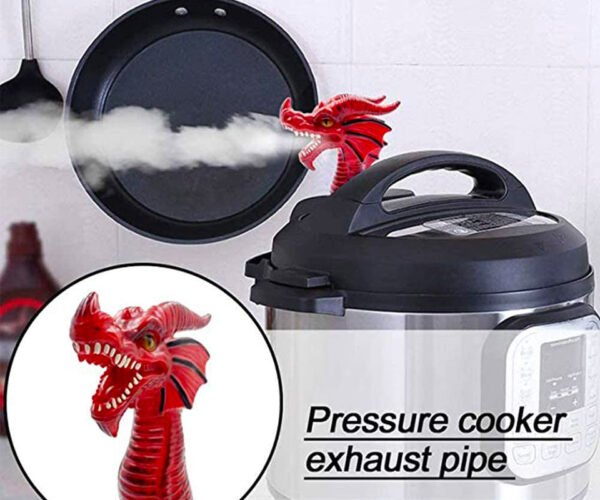 This Dragon Sits on Your Pressure Cooker and Breathes Steam