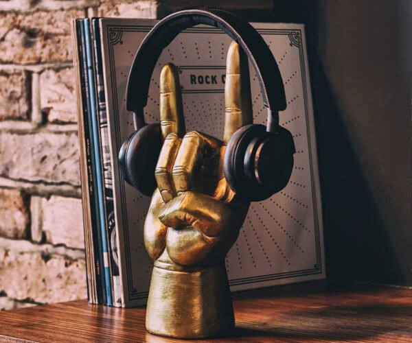 Hand Shaped 'Sign of the Horns' Headphone and Accessory Holders: Rock On!