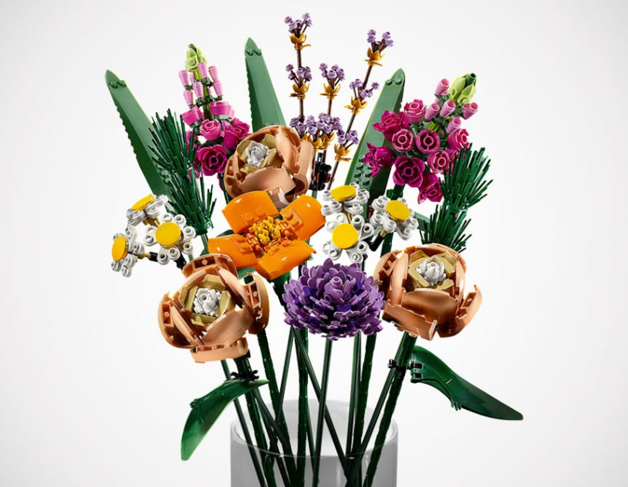 LEGOs Realistic Flower Bouquet Set: Stop and Smell the