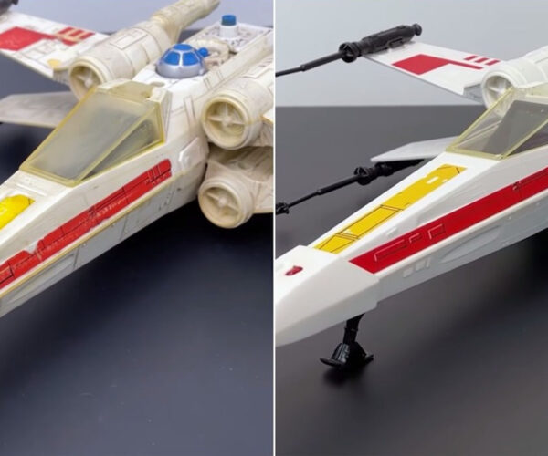 Watch a 1978 X-Wing Toy Restored to New Condition (without Using The Force)