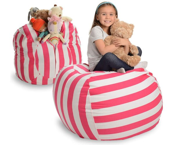 This Beanbag Chair Is Designed to Be Filled with Stuffed Animals