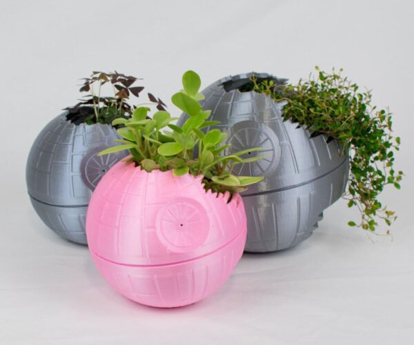 Death Star Inspired 3D Printed Planters: That's No Moon